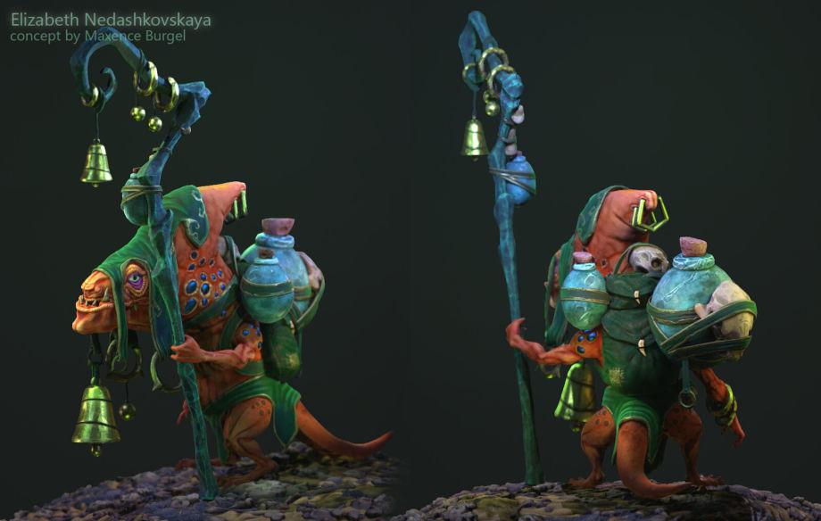 ZBrush蜥蜴模型雕刻教程